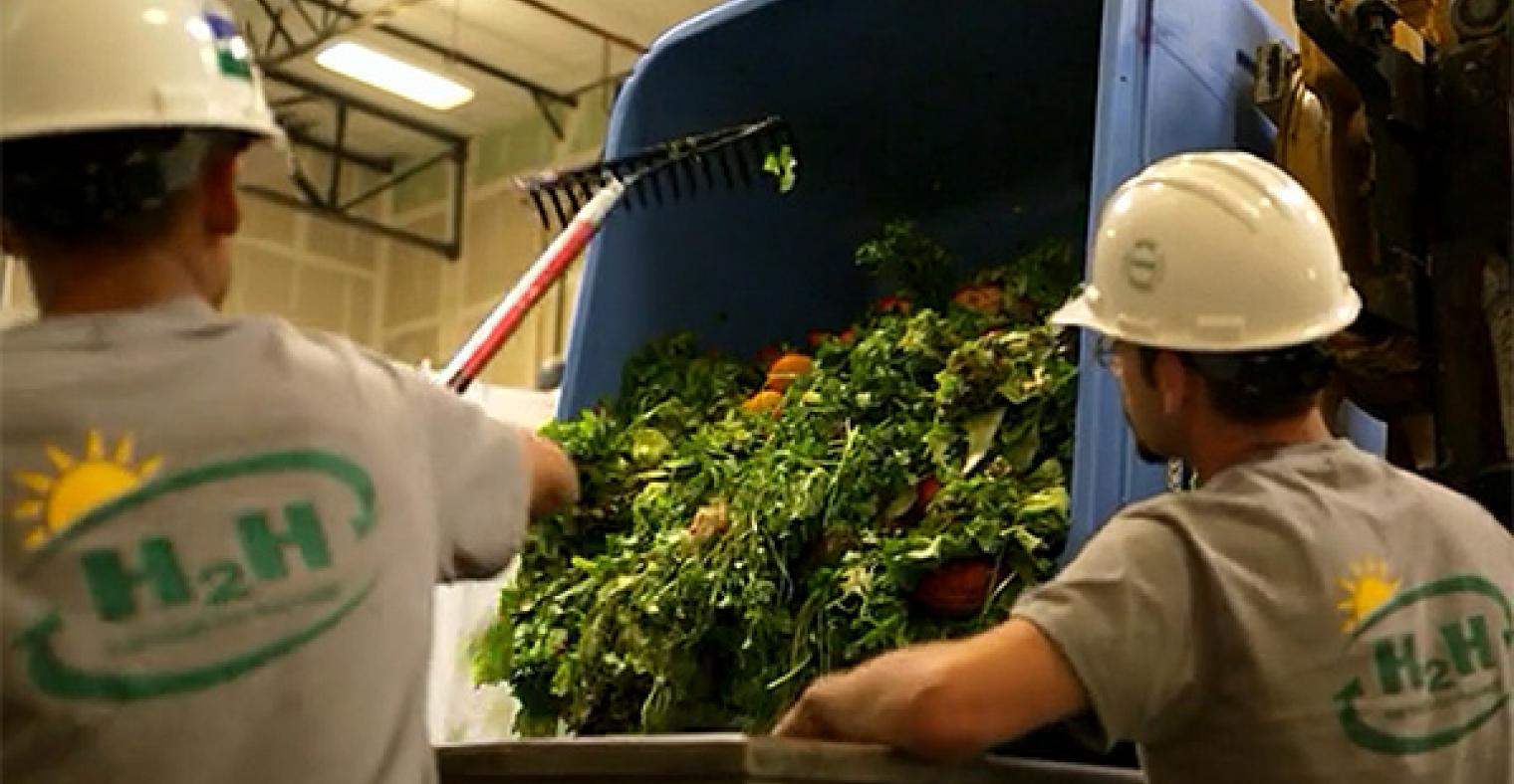 California Safe Soil team members working to create high-quality liquid fertilizer from waste.