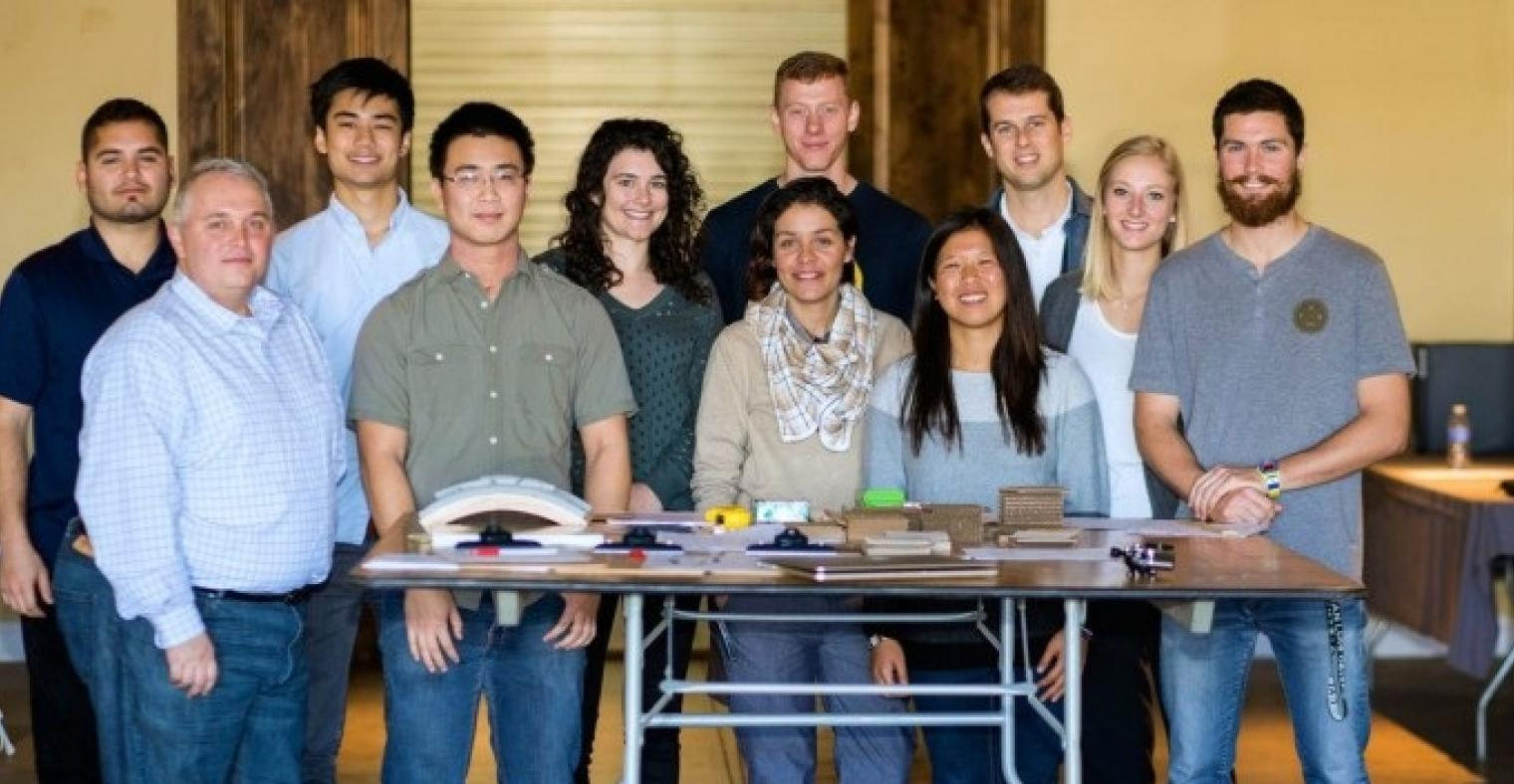 Specright's partnership w/ Cal Poly San Luis Obispo allows the company to employ the university's packaging students, while giving them the hands-on experience needed to excel in agtech. Specright's leadership team is pictured here with Cal Poyl students.