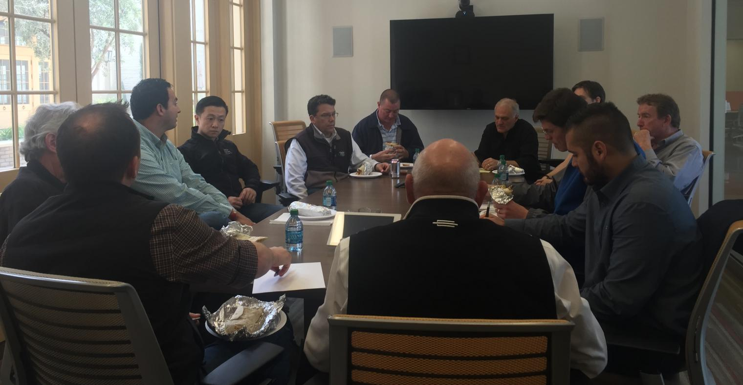 Taylor Farm team members spoke with the WGCIT resident startup companies about a variety of topics relating to agriculture and technology, while enjoying burritos for lunch.