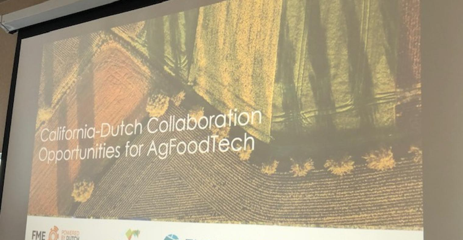 agtech Netherlands California
