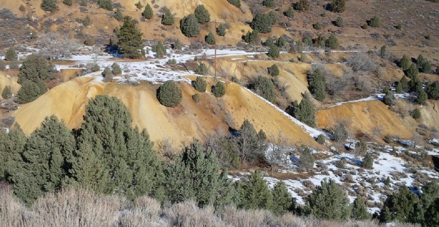 Mine Waste Canyon Wall